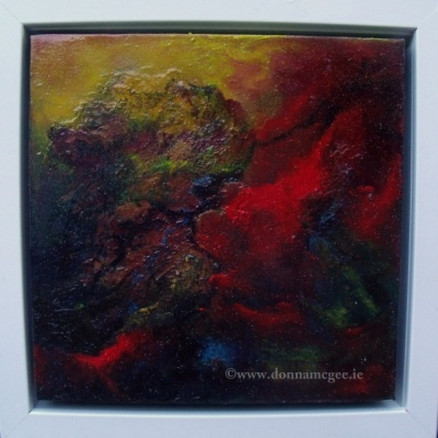 Life Force - Abstract Oil on Canvas 8 x 8""