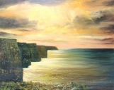 Cliffs of Moher - Oil on board 16 x20""