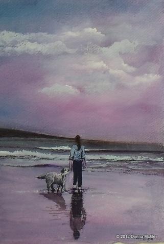 """Hannah's World - Watercolour 12 x 9"""""""