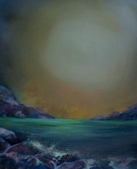 "Hidden Depths 20x 16"" Oil on block canvas"