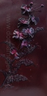 Purple Orchids 40 x 80 cms Oil based mixed media on canvas www.donnamcgee.ie