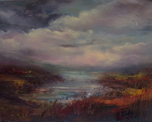 "Award Winning Oil Painting Wicklow Way 10 x 12"" Oil on Canvas Donna McGee"