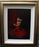 Spanish Flemenco Dancer Oil painting