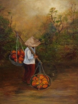 Irish Art -The Cambodian Fruit Seller