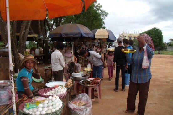 Market Day in Phnom Penh, Cambodia