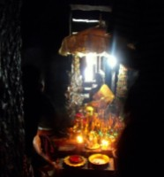 Buddha in temple at Angkor Watt