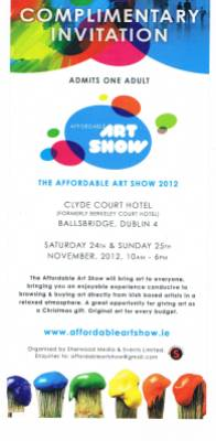 Donna McGee invite to Affordable Art Show