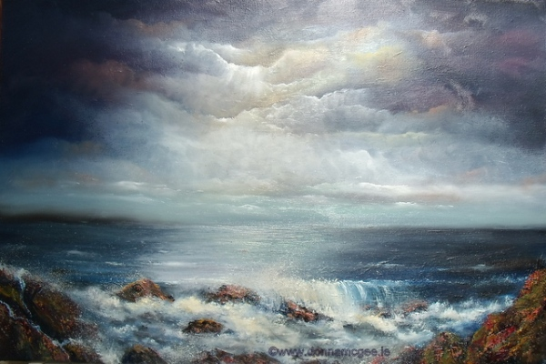 The_Secret_of_the_sea_oil_painting_donna_mcgee