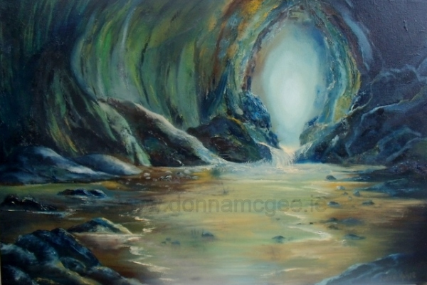 "Safe_Haven_ Cave Oil on canvas 20 x 30"" © Donna McGee"