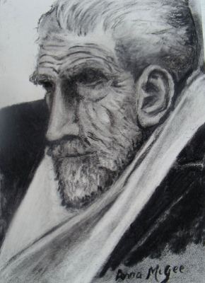 Ezra Pound sketch © donna mcgee