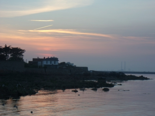 View of The Pigeon House in the distrance from Dalkey © Donna McGee