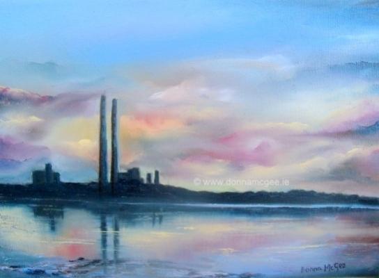 "Pigeon House Dublin 14 x 12"" Oil on canvas Oil Painting Donna McGee"