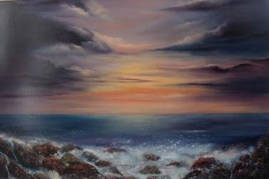 East Coast Sunset 20x30 Oil on canvas