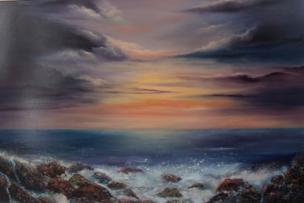 East Coast Sunset 20x30 Oil on canvas