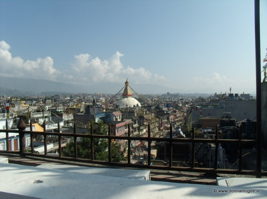 Boudhath Stupa and the surroundings of Kathmandu