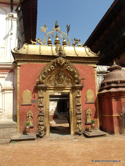 The Golden Gate of the Palace in Bhaktapur City