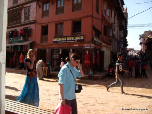Just another shopping day in Bhaktapur