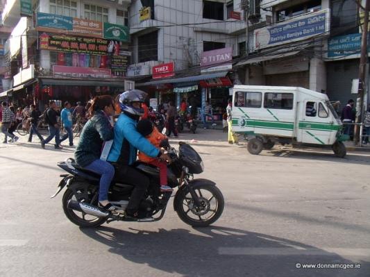 traffic in Kathmandu