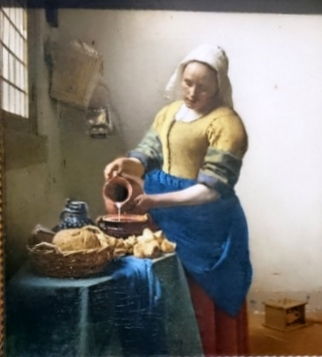 The Kitchen Maid, Vermeer 1658